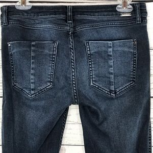 Zara Z1975 Jeans Distressed Zipper Ankles Skinny